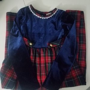 Emily West Holiday Dress Plaid girls size 8